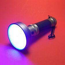 JaaU UV LED Flashlight, 100 LEDs, Curing Lamp for UV Glue LOCA, 6x AA, 395nm