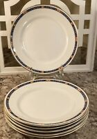 6 Dresden China 9 inch  Peony Floral dinner plates used