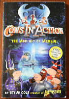 Steve Cole – Cows In Action The Moo-gic Of Merlin paperback + Collectors Cards