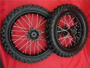 """12mm STEEL SDG 12"""" REAR 14"""" FRONT  WHEELS WITH MX TYRES FOR PIT BIKE"""