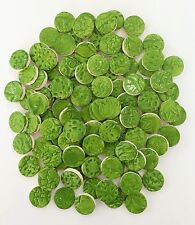 100 CLOVER GREEN  Ceramic Tile Circles