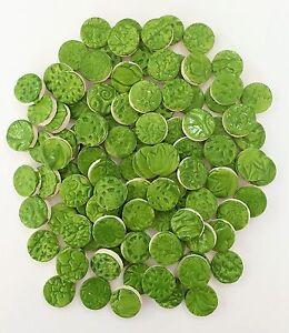 CLOVER GREEN  Ceramic Tile Circles