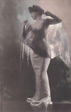 OLD POSTCARD WOMAN GLAMOUR FASHION DRESS RISQUE EROTIC F4