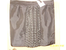 BNWT MARKS & SPENCER PER UNA SPEZIALE BLACK LINED SKIRT SIZE 20 LENGTH 22""