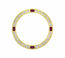 GOLD CREATED DIAMOND RUBY BEZEL FOR 26MM ROLEX LADY DATEJUST 6519  6917 69173 #1