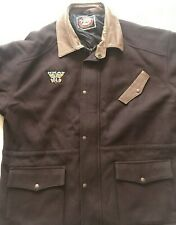 Australian Outback Collection Men's Lined Wool/Leather Trim Brown Jaacket SIZE2X