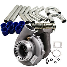 "GT35 Turbocharger+3"" 76mm Intercooler Pipe Kit For R32 R33 R34 RB25 RB30 A/R .70"