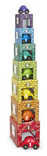 Melissa & Doug Wooden Garages Cars Nesting Stacking Blocks Pre School Toy - NEW