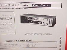 1974 SBE CB RADIO / SCANNER SERVICE MANUAL MODEL SBE-140B (SUPER CONSOLE)