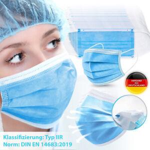 Schutzmaske Medizinische OP Maske Atemschutz Einweg 50-500x Mundschutz Typ IIR