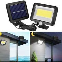 56 LED Solar Bewegungsmelder Außenleuchte Garten Sicherheit Lampe Flutlicht U6Q3