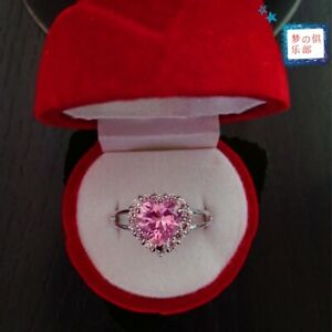 Sailor Moon Silver Zircon Engagement Ring Heart Shape Tsukino Usagi Rings Gift
