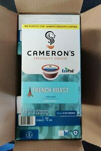 CAMERON'S Coffee Pods French Roast Dark & Rich Eco Pods 72 Count (6 x 12) Oct 8