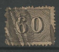 timbres-Brésil. 1866. 60r Noir sur jaunâtre. Perf 13½ at Rio de Janeiro. SG: 34