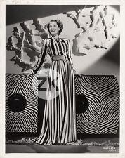 NORMA SHEARER Fashion Dinner Dress ADRIAN Robe Meuble Art Deco MGM Photo 1939