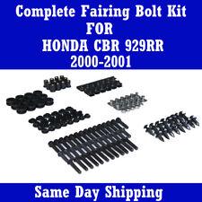 Complete Black Fairing Bolt Kit Body Screw for HONDA 2000 2001 CBR 929RR