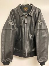 EUC Vanson Leathers Black Motorcycle Jacket Mens Size 50 Cycle Riding Gear