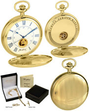 Woodford Twin-Lid Pocket Watch, Visible Escapement, 17 Jewel Gold Plated (1118)