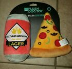Dog Toy Beer N Pizza NEW