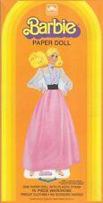 Vintage Barbie Angel Face Paper Doll Mod Uncut Org Sz Laser Reproduction Free Sh