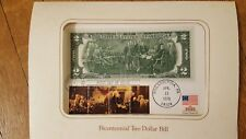 Bicentennial Two Dollar Bill Collectible Card w/ Stamps 1976 New!!! Beautiful