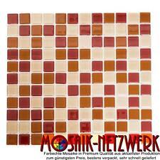 Glasmosaik Crystal Mix rot orange ocker |Crystal Mosaik Mix |Art: 62-0804 | 1qm