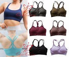 UK Women's Energy Seamless Sports Bra Gym Top Yoga Fitness Training Activewear