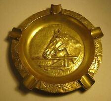 Vintage Brass Ashtray w/ Horse  T*