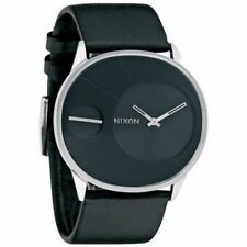 Relojes de pulsera Nixon de acero inoxidable de cuero