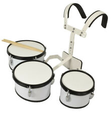 Bryce 3 Piece Marching Drum Set  8 inches 10 inches 12 inches - Carrier and stic