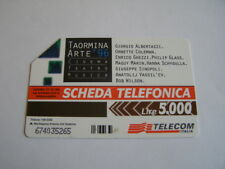 telecarte italienne telecom italia 5000 lire taormina arte 96 cinema teatro
