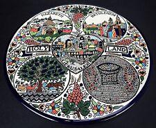 Holy Land Ceramic Trivet Wall Hanging Plate Jerusalem Nazareth Bethlehem Israel