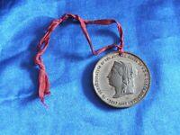 Queen Victoria Golden Jubilee 1887 Commemoration Medal Antique Royal Victorian