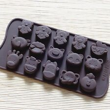 Adorable Cute Animal Flexible Silicone Mold Candy Chocolate Cake Jelly Mould
