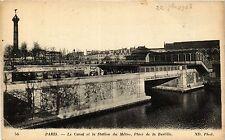 CPA PARIS 12e-Le Canal et la Station du Métro-Place de la Bastille (322895)