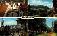 SCHOTTLAND Scotland EDINBURGH Multi-View Postcard u.a. White Horse Close, Castle