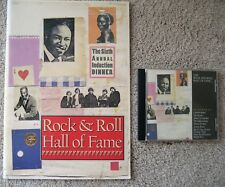 1991 6TH ROCK HALL INDUCTION PROGRAM & CD BYRDS HOWLIN WOLF IKE & TINA TURNER