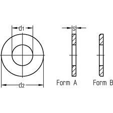 Gelbe verzinkte Stahl Baugewerbe-Unterlegscheiben
