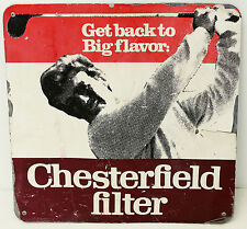 Vintage Tin Chesterfield Cigarettes Advertising Sign Tobacciana Mancave