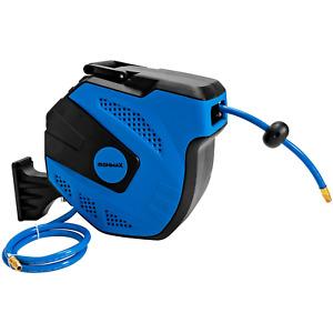 "3/8""x49 Retractable Air Hose Reel Auto Rewind Wall Mount Air Compressor Durable"