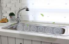 """Kitchen Sink Water Splash Guard Clear Wave Design Soft & Flexible 19.7"""" x 5.7"""""""