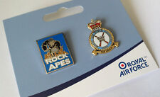 OFFICIAL ROYAL AIR FORCE LIMITED EDITION ROCK APES AND REGIMENT CREST PIN SET