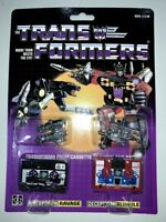 Transformers G1 decepticons cassette ravage & rumble mint shipped by speedpak