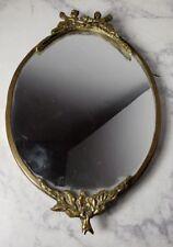 Vintage Angel Mirror / Tray Brass Excellent