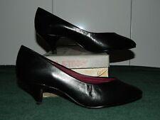NIB SWEET-WALKERS Black Orthopedic Occupational Leather Heels Size 6 W