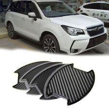 Carbon texture Side Door Handle Bowl Stickers 4PCS For SUBARU Forester SJ NEW