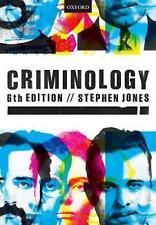Criminology, Paperback; Jones, Stephen, HE LexisNexis, 9780198768968, HE Law