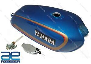 For Yamaha Rx100 Rx 100 Rx125 Blue Petrol Fuel Gas Tank With Lid Cap & Tap ECs