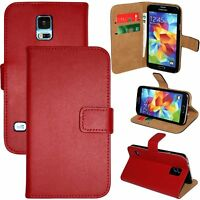 Luxury Genuine Real Leather Flip Case Wallet Cover For Samsung Galaxy S5