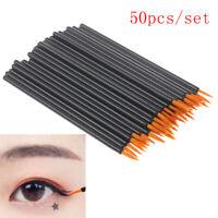 50Pcs Disposable Eyeliner Brushes Individual Applicator Fibre Swab Liner Brush